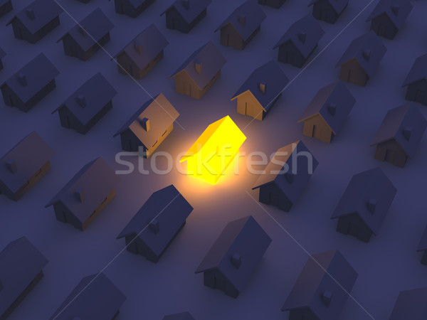 Stock photo: Illuminated Toy House