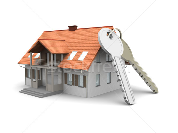 Maison touches paire 3D rendu illustration Photo stock © Spectral