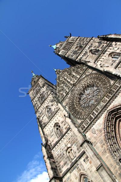 Kathedraal gebouw stad deur kerk Stockfoto © Spectral