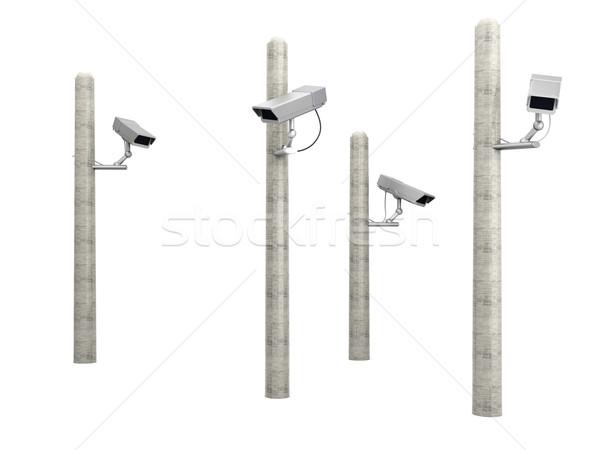 Cctv megfigyelés 3D renderelt illusztráció televízió Stock fotó © Spectral