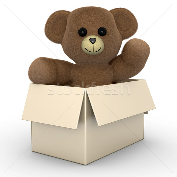 Teddy in a Box	 Stock photo © Spectral