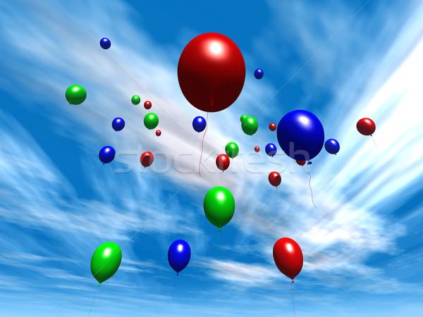 Balloons - Daytime Sky Stock photo © Spectral