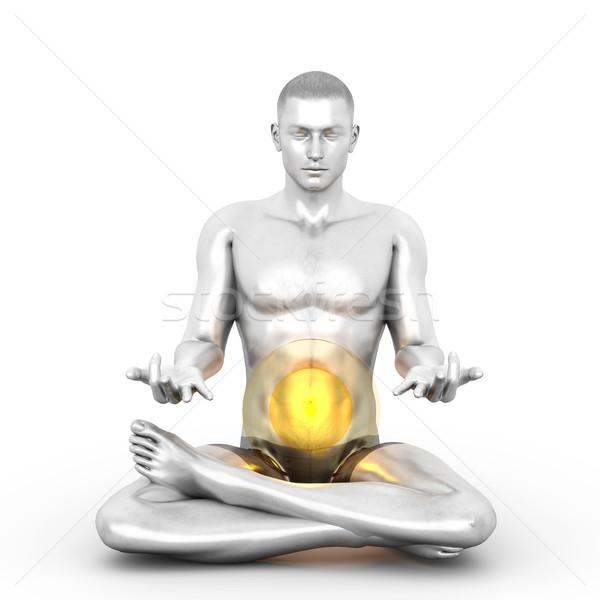 Manipura Meditation Stock photo © Spectral