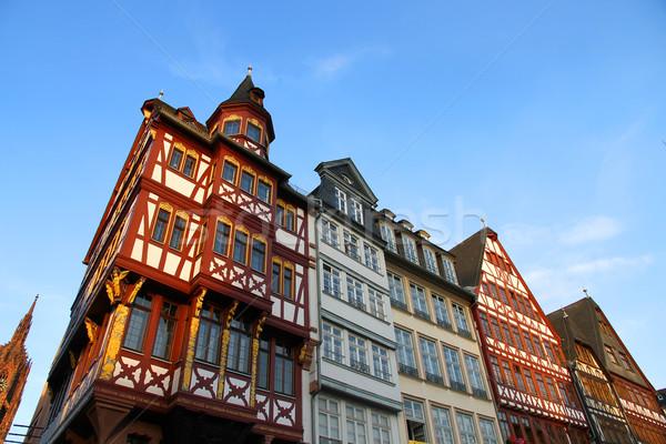 óváros Frankfurt délelőtt fő- Németország Európa Stock fotó © Spectral