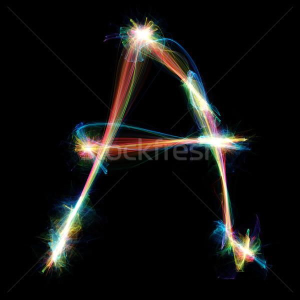 Plasma lettera digitalmente fuori energia design Foto d'archivio © Spectral