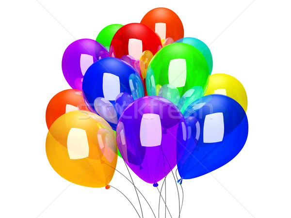 Balloons isolated on white Stock photo © Spectral