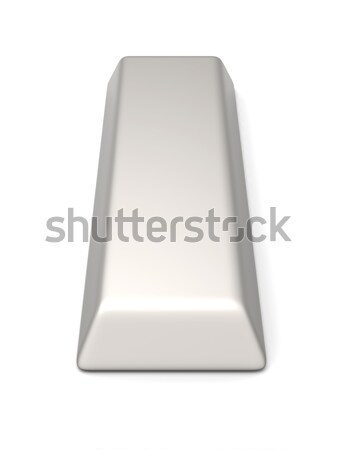 Gümüş bar 3D render örnek yalıtılmış Stok fotoğraf © Spectral