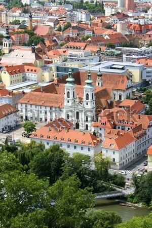 Graz ville Autriche église Voyage architecture Photo stock © Spectral