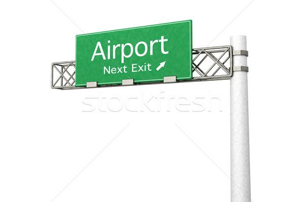 幹線道路の標識 空港 3D レンダリング 実例 次 ストックフォト © Spectral