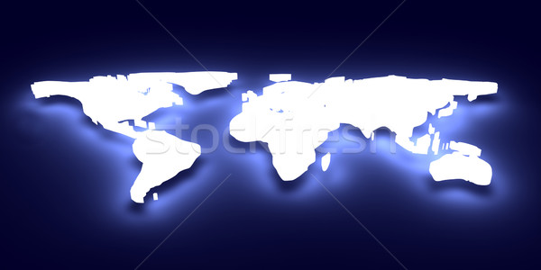 Glowing World map Stock photo © Spectral