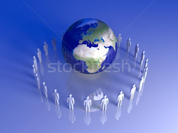 Global Team Europa Afrika 3D gerendert Stock foto © Spectral