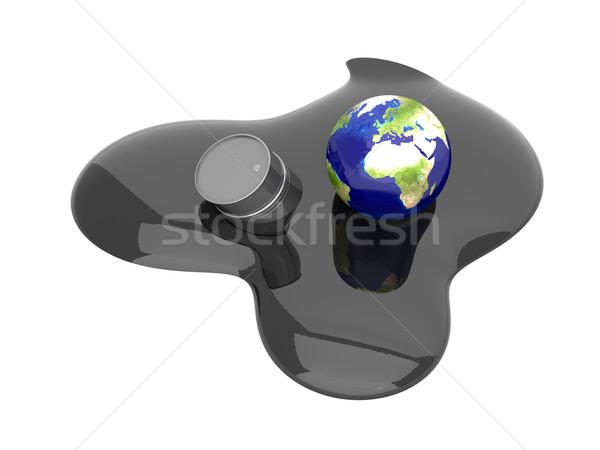Óleo catástrofe europa 3D prestados ilustração Foto stock © Spectral