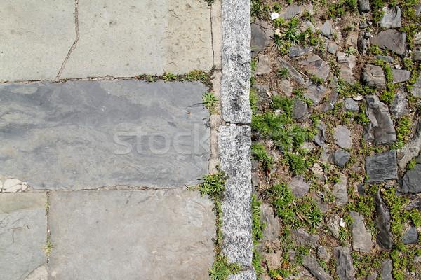 アンティーク 通り 舗装 道路 石 階 ストックフォト © Spectral