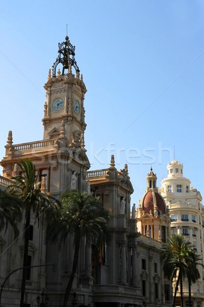 Arquitetura histórica Valência centro Espanha céu edifício Foto stock © Spectral