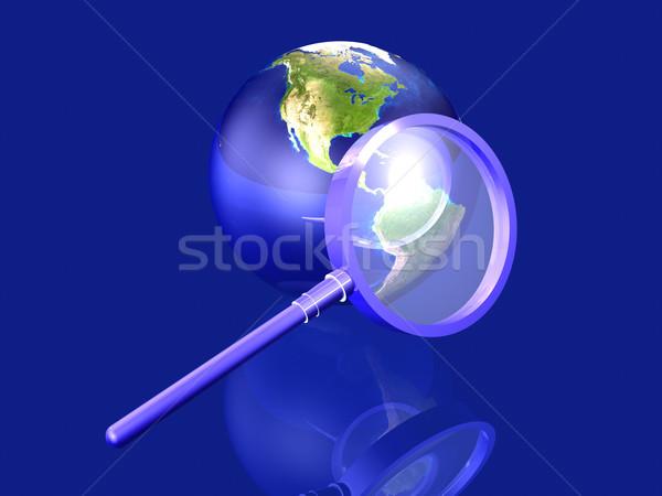 Global pesquisar américa 3D prestados ilustração Foto stock © Spectral