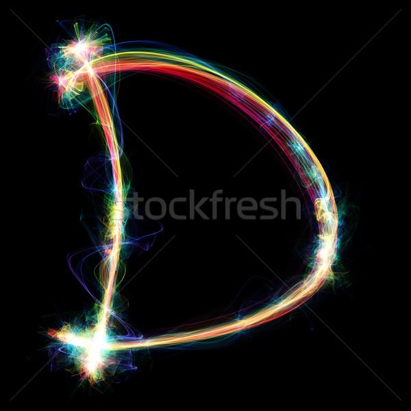 Plazma mektup dijital dışarı enerji dizayn Stok fotoğraf © Spectral