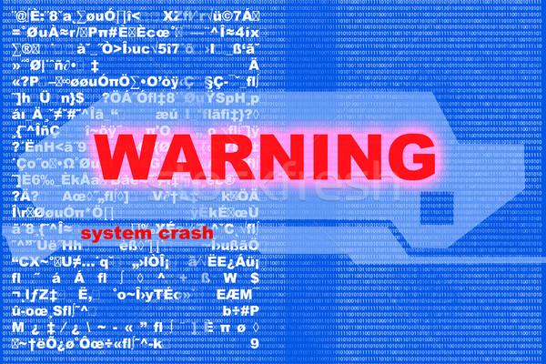 警告 デジタル コード サーバー にログイン ネットワーク ストックフォト © Spectral