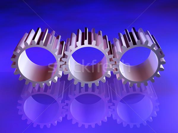 Engrenagens industrial projeto simbólico 3d render digital Foto stock © Spectral