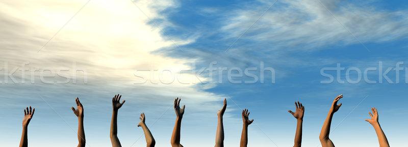 Handen zomer hemel 3D gerenderd illustratie Stockfoto © Spectral
