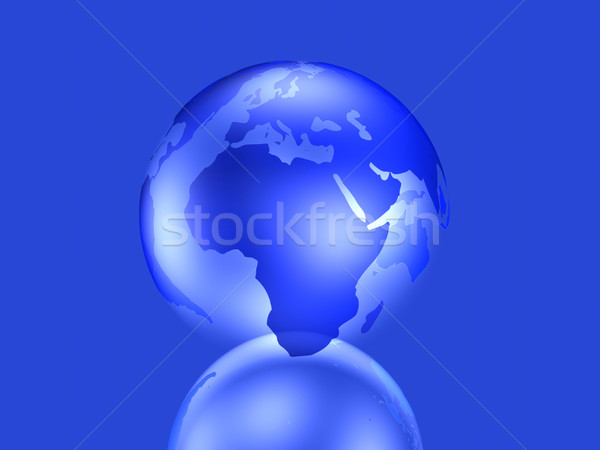 Glassy Globe - Europe, Africa	 Stock photo © Spectral