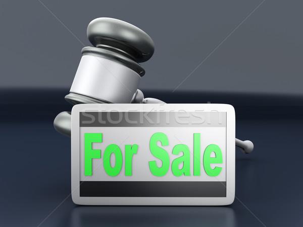 árverés vásár szimbólum 3D renderelt illusztráció Stock fotó © Spectral