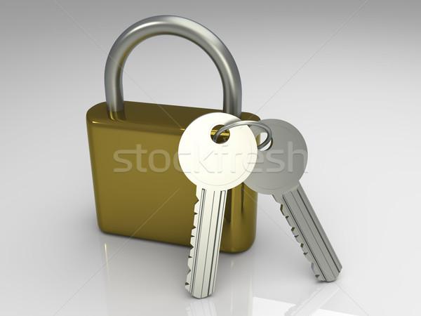 Padlock with Keys Stock photo © Spectral
