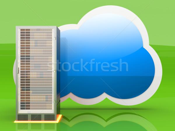 Servidor 3D prestados ilustración ordenador Foto stock © Spectral