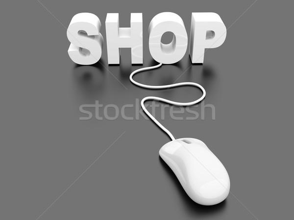 магазин 3D оказанный иллюстрация компьютер Сток-фото © Spectral