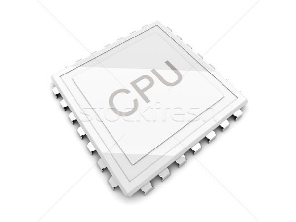 Cpu computer tecnologia digitale bianco dati Foto d'archivio © Spectral