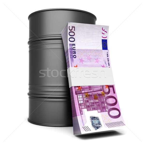 Euro ulei 3D prestate ilustrare izolat Imagine de stoc © Spectral