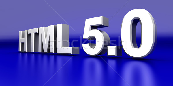 Html 50 3D rendu illustration ordinateur Photo stock © Spectral