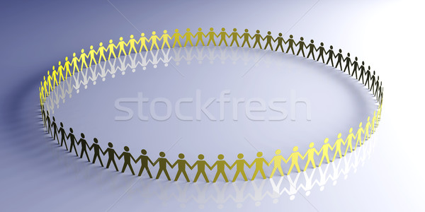 сообщество 3D оказанный иллюстрация бумаги сеть Сток-фото © Spectral