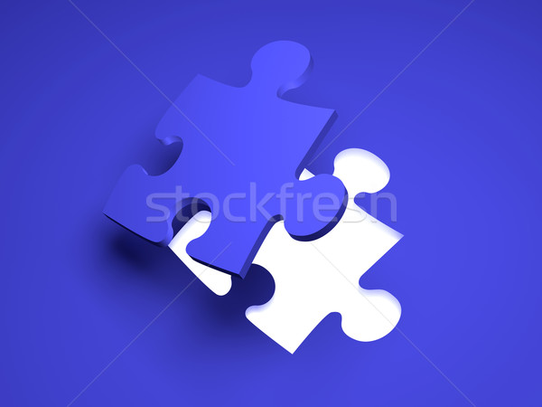 Puzzle Solution Stock photo © Spectral
