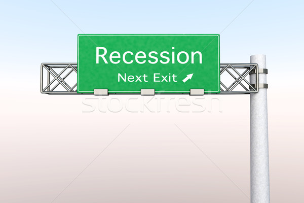 Highway Sign - Recession Stock photo © Spectral
