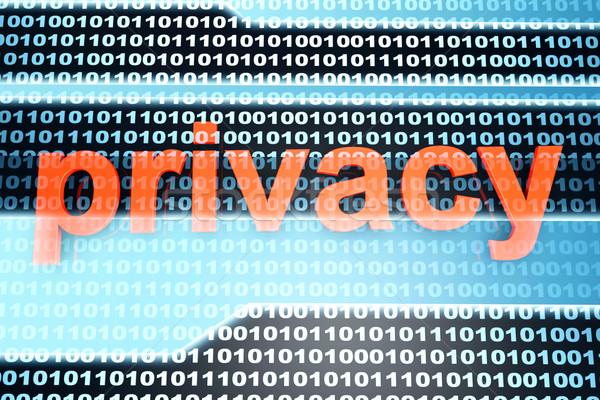 Prywatność słowo dwójkowy działalności Internetu technologii Zdjęcia stock © Spectral