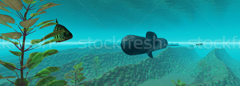 Subaquático 3D submarino água natureza Foto stock © Spectral