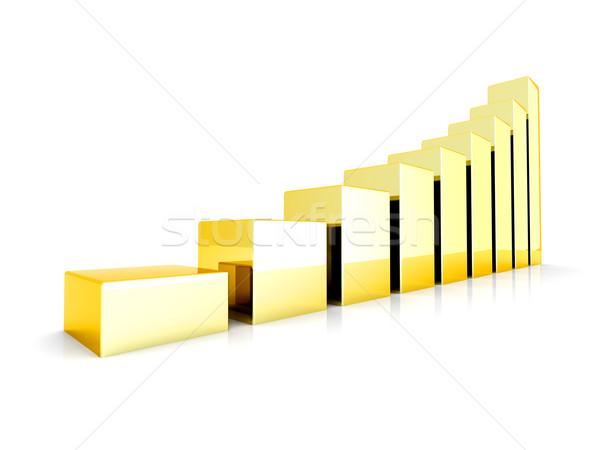 золото 3D оказанный иллюстрация изолированный Сток-фото © Spectral