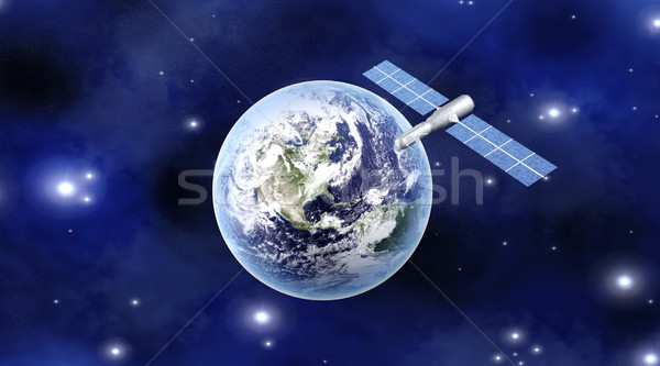 Satellite over the Earth Stock photo © Spectral