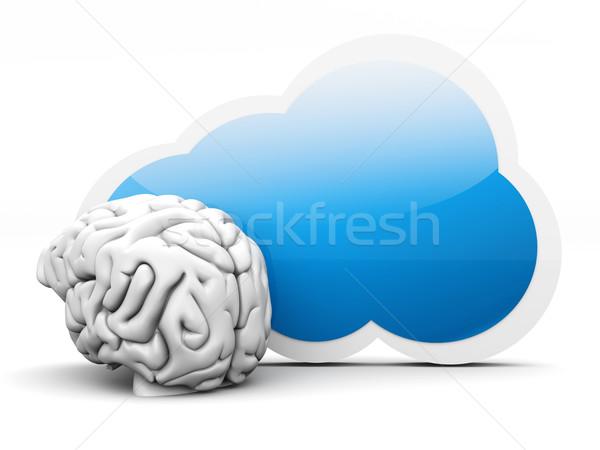 Stok fotoğraf: Bulut · istihbarat · 3D · render · örnek