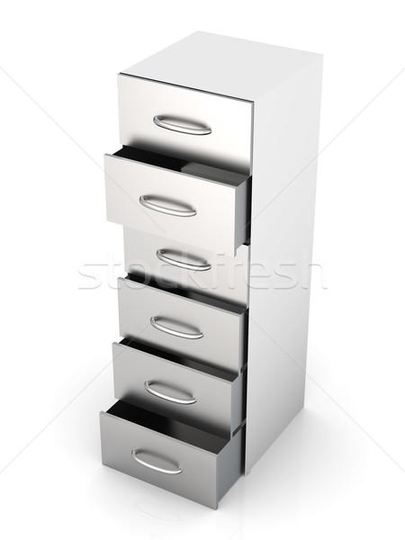 Dolap 3D render örnek yalıtılmış beyaz Stok fotoğraf © Spectral