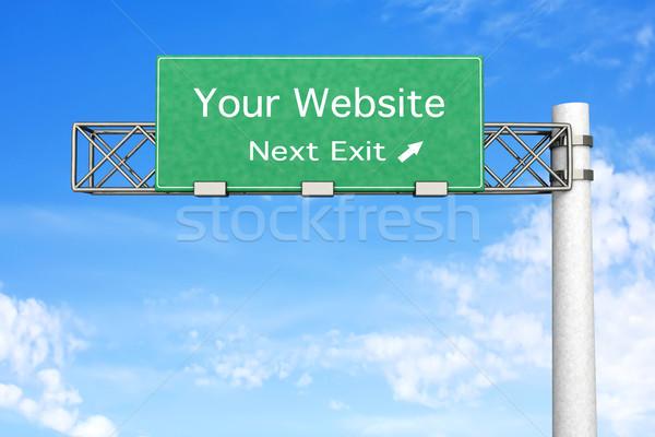 Otoyol işareti web sitesi 3D render örnek sonraki Stok fotoğraf © Spectral