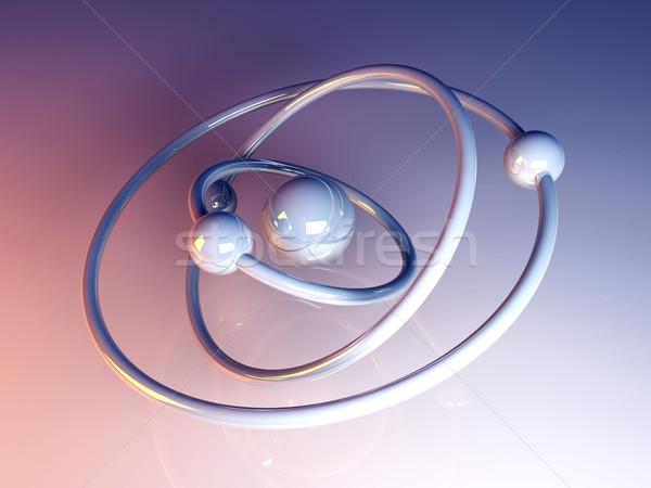 Atomico modello illustrazione 3d scuola scienza energia Foto d'archivio © Spectral