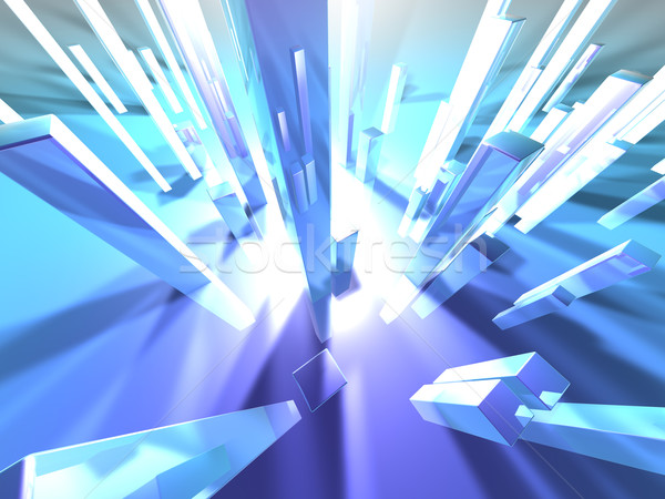 Stockfoto: Licht · 3D · gerenderd · illustratie · afbeelding