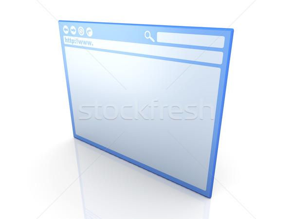 Browser venster 3D gerenderd illustratie geïsoleerd Stockfoto © Spectral