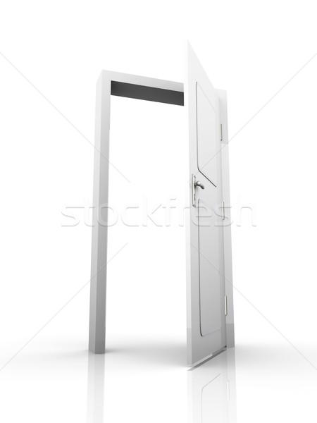 Open deur deur Open 3D gerenderd illustratie Stockfoto © Spectral