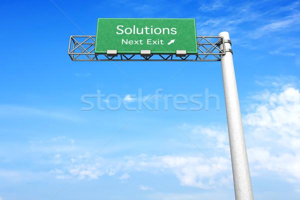 шоссе знак решения 3D оказанный иллюстрация следующий Сток-фото © Spectral
