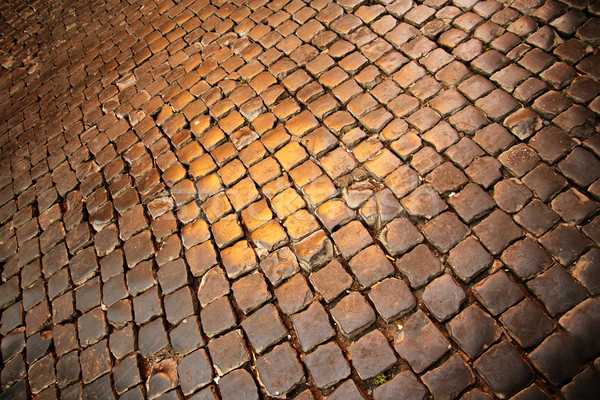 Anciens pavés trottoir Rome Italie Europe Photo stock © Spectral