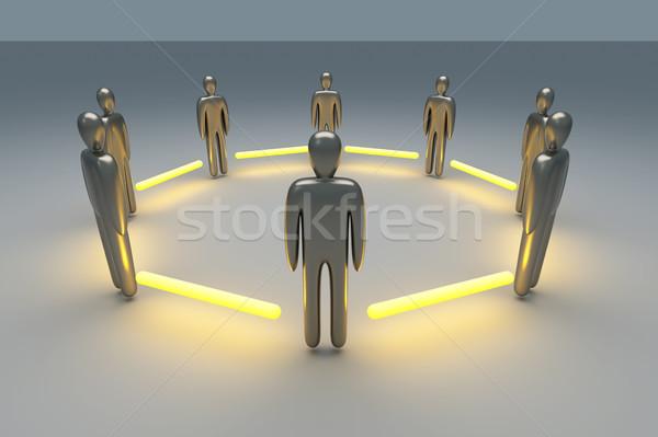команда 3D оказанный иллюстрация власти команде Сток-фото © Spectral