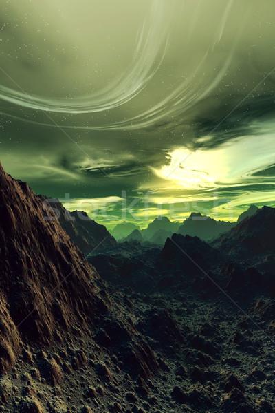 3D оказанный scifi пейзаж Мир фон Сток-фото © Spectral