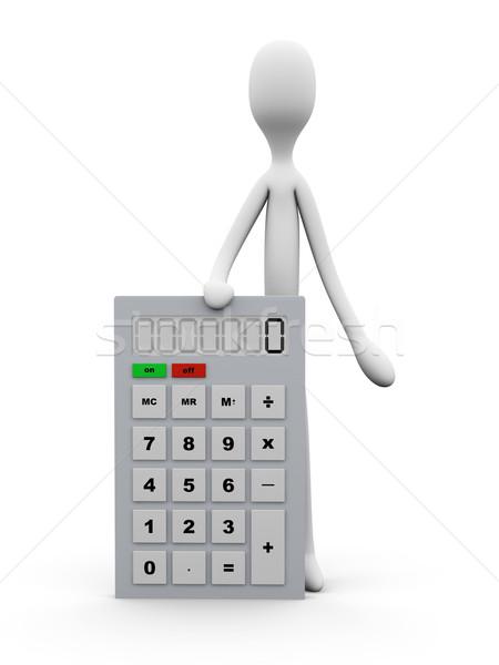 Calculator 3d illustration geïsoleerd witte school wetenschap Stockfoto © Spectral